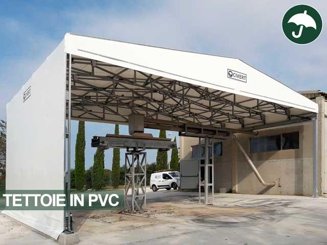 coperture per tettoie in pvc