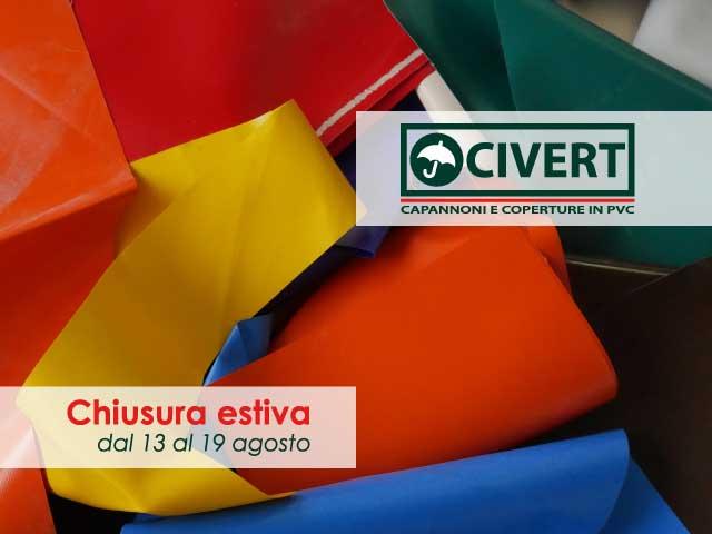 Chiusura estiva uffici Civert
