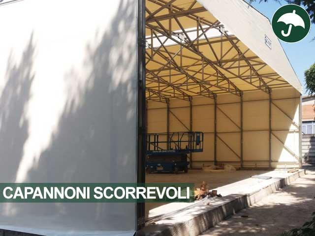 Capannone mobile scorrevole modello Only Civert