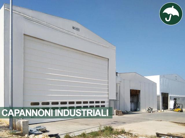 Capannone industriale autoportante con porta avvolgibile sul fronte Civert