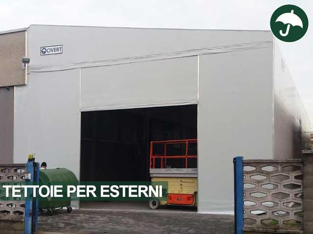 tettoia industriale con porta rapida rozzano