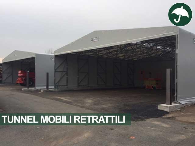 Due tunnel mobili retrattili modello Indipendente Only Civert