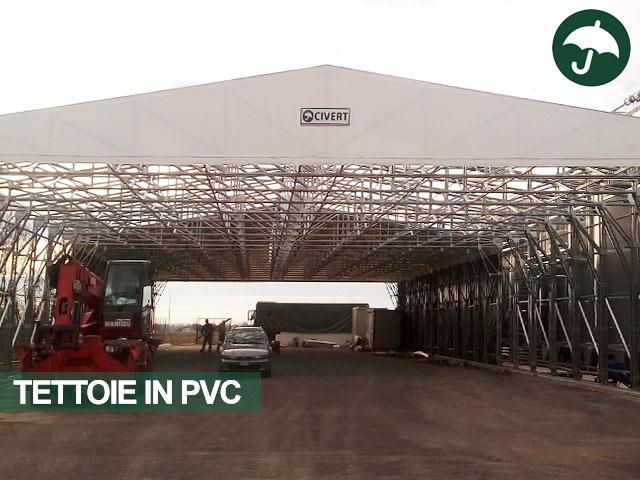 Tensostruttura capannone in pvc modello Only Civert