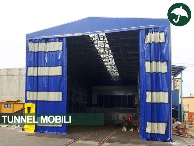 Tunnel mobile scorrevole copertura semovente modello Only Civert