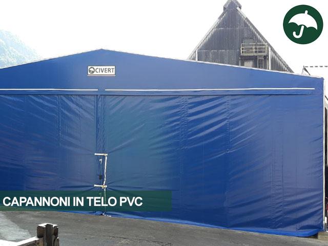 capannone in telo pvc