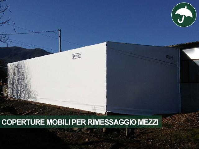 Copertura mobile Monoside Civert per rimessaggio mezzi