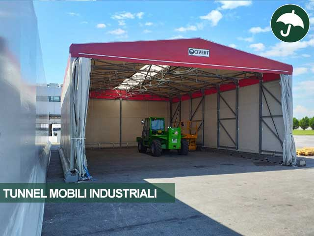 Tunnel mobile industriale indipendente Civert