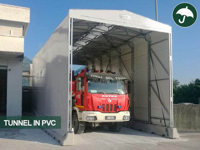 Tunnel in pvc indipendente Only Civert per la protezione dei mezzi