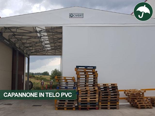Capannone copertura mobile modello Biroof in pvc Civert