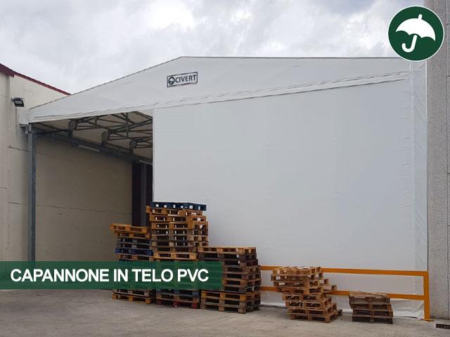 capannone telo pvc