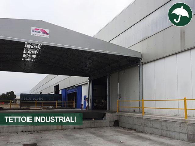 dettaglio tettoia industriale