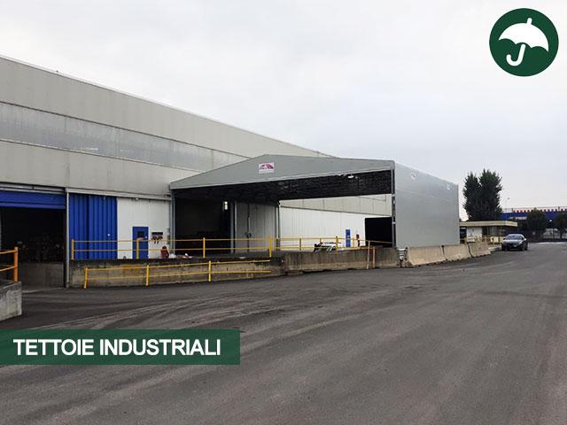 tettoia pvc industriale Brescia