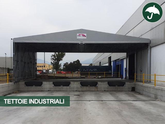 Capannone mobile modello Biside per tettoia industriale Civert