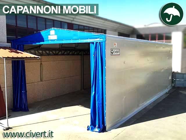 Galleria immagini di un capannone mobile e retrattile della Civert