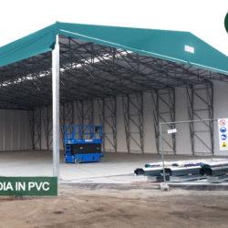 coperture mobili Civert per aumentare le aree coperte aziendali. Soluzioni per il magazzino con coperture pvc mobili, fisse e retrattili.