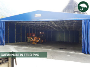 Capannone in telo pvc mobile indipendente Only Civert