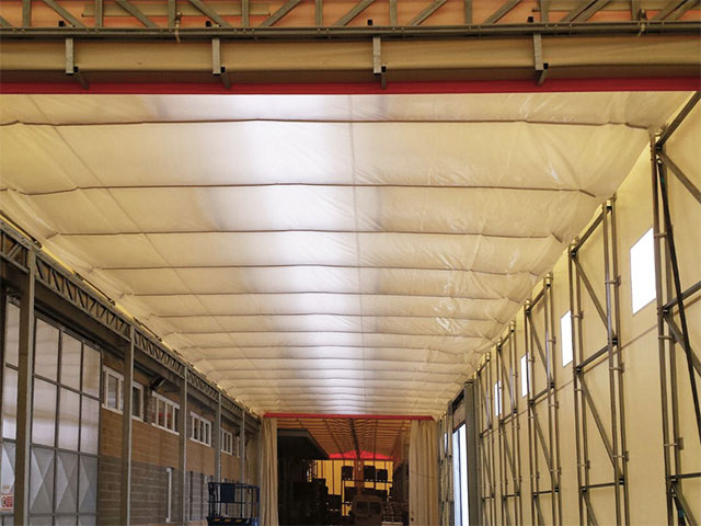 Controtelo per capannone in PVC