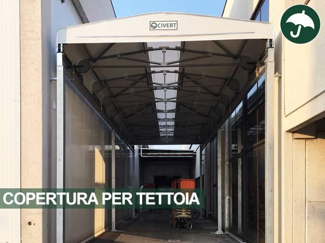 Copertura industriale in pvc per magazzini