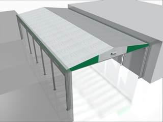 copertura in pvc tettoia bi pendenza