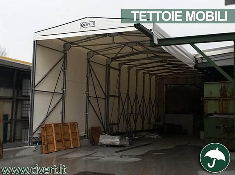 Copertura industriale in telo pvc retrattile e mobile per capannoni e magazzini