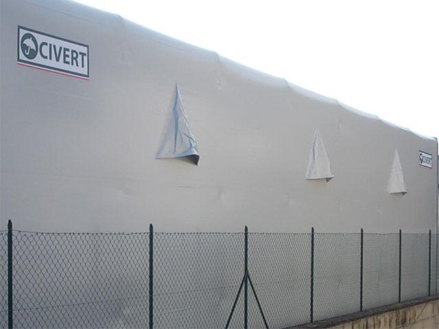 Feritoie areazione per capannoni in pvc