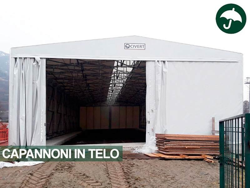 Una copertura o tenda industriale Civert in pvc