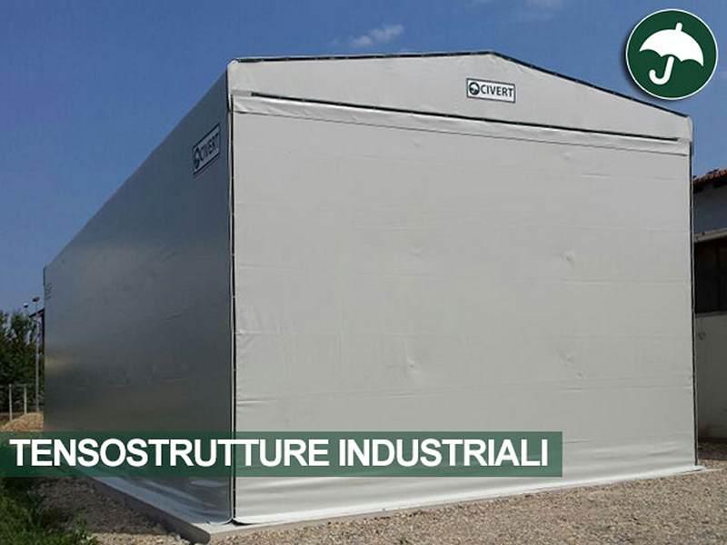 Tensostruttura industriale in pvc civert