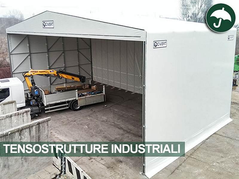Tenso struttura industriale in pvc