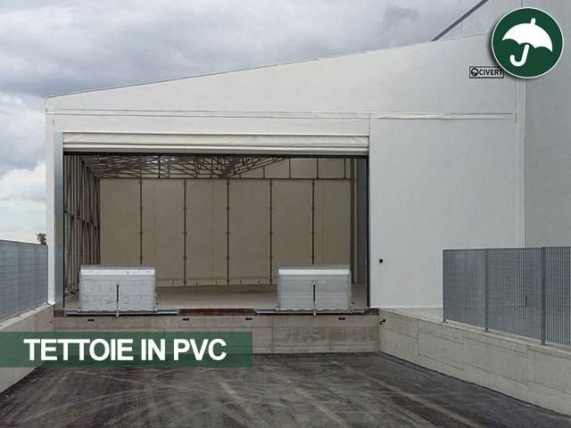 Copertura laterale industriale in pvc per magazzino