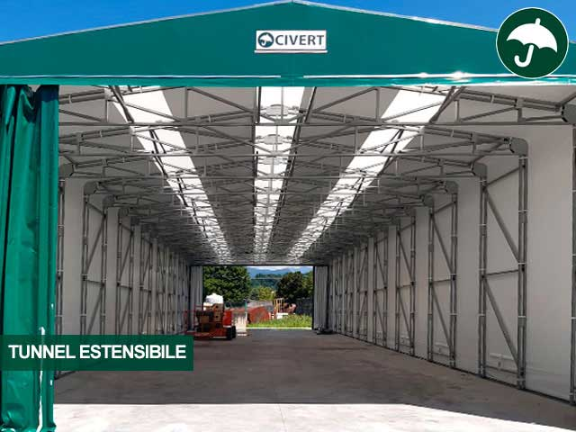 tunnel estensibile pvc